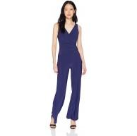 Nine West Damen Sleeveless Jumpsuit with Surplus Detail & Asymetrical Bodice Kleid Bekleidung