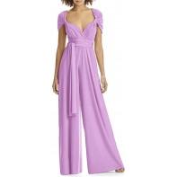 Womens Elegant Party tragen Cabrio Multiway Wrap Palazzo Weitbein Jumpsuit Bekleidung