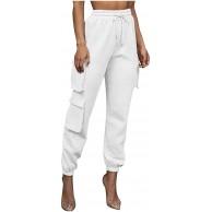 AABBQ Damen Ladies Hose High Waist Cargo Pants Cargohose Jeans Hosen Weite Beinhosen Freizeithose Sporthose Schlaghose Outdoorhose Arbeitshose Bekleidung