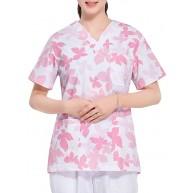 PRETYZOOM Krankenpflege Peeling Sportliche Peeling Ärzte Kleider Laborkittel Krankenschwester Overall Peeling Kleid Medizinische Kleider Prüfungskleider für Ärzte Krankenschwester Bekleidung