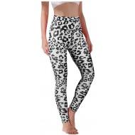 Xniral Damen Yogahose mit Hüfthose und Leopardenmuster und Hohe Taille Jogginghose Übung Laufen Yoga-Hosen Slim Leggings Bekleidung