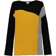 GINA LAURA Damen Pullover Colorblocking weicher Feinstrick 726455 Gina Laura Bekleidung