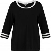Ulla Popken Damen große Größen Pullover schwarz 46 48 727191 10-46+ Ulla Popken Bekleidung
