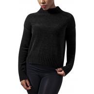 Urban Classics Damen Pullover Ladies Chenille Turtleneck Crew Bekleidung