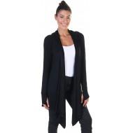 Angelina Damen Strickjacke mit Kapuze und Daumenlöchern weich leicht Modal Bekleidung