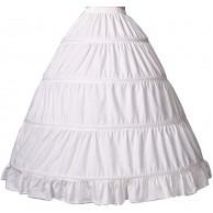 BEAUTELICATE Petticoat Reifrock 100% Baumwolle Unterröcke Lang Vintage Fur Damen Brautkleid Hochzeitskleid Mittelalterliches Viktorianisches Kostüm Bekleidung