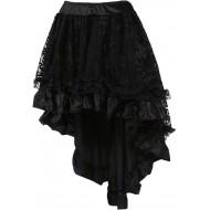 COSWE Damen Röcke Schwarz Punk Irregular Kleid Steampunk Cocktail Chiffon Spitze Party Rock Cosplay Kost¨¹m Bekleidung