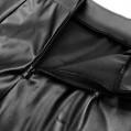 Damen Minirock Leder Optik - Sexy Wetlook Stretch Rock Leder Rock Bleistift Röcke Mini Leder Asymmetrisch High Waist Skirt Figurbetont kurz Enger Lederrock in Schwarz Bekleidung