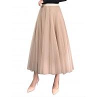 FEOYA Tüllrock Frauen elastische Taille Prinzessin Petticoat Frühling Sommer Hochzeit Show Tanz Abend Strand Karnevalsparty Bekleidung