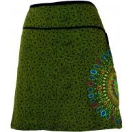 GURU SHOP Minirock Sommerrock Hippie Rock Goa Rock Damen Baumwolle Röcke Kurz Alternative Bekleidung Bekleidung