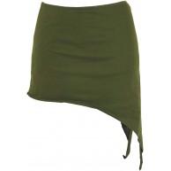 GURU SHOP Pixi Zipfelrock Goa Top Damen Baumwolle Röcke Kurz Alternative Bekleidung Bekleidung