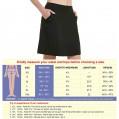 HonourSex Damen knielang Röcke Causal Skorts mit Taschen längere Länge Golf-Röcke Bekleidung