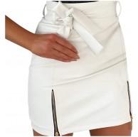 MMOOVV Damen Hohe Taillen Reißverschluss Minirock Bleistiftrock Pack die Hüfte Reizvoller Kurzer Rock S-2XL Bekleidung
