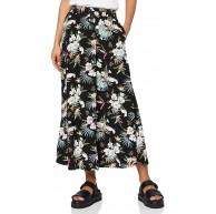 Urban Classics Damen Rock Viscose Midi Skirt langer Rock aus Viskose für Frauen in 2 Farben Größen XS - 5XL Bekleidung