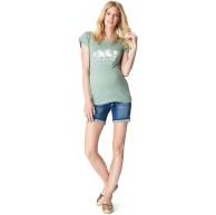 Noppies Damen Jeans Short OTB Slim Mila Medium Aged Umstandsshorts Blau Blue Denim C306 38 Herstellergröße 30 Bekleidung