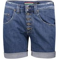 Please Damen Jeans Short P88A Boyfriend - Blau - Mid Blue Denim XXS XS S M L XL Stretch 98% Baumwolle Kurze Hose Bermuda Bekleidung