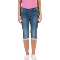 Timezone Damen Slim TaliTZ Shorts Blau Blue Denim wash 3041 W27 Bekleidung