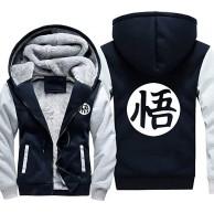 Ga-yinuo Anime Kleidung Hoodies Thick Coat Jacken Kapuzenpullover Outwear Dicke Warme Mäntel Mit Taschen Hoodie Teen Warme Jacke Dragon Ball Goku ,XXXXL Bekleidung