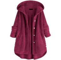 HUBA Damen Sweatjacke Kapuzenjacke Kapuzenpullover Lange Kapuzenpullis Casual Taschen warme Hoodie Pullover Coat Oberbekleidung Bekleidung