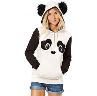 Ronamick Damen Kapuzenpullover Lange Ärmel Hoodie Pullover Frauen Panda Tasche Hoodie Sweatshirt mit Kapuze Pullover Tops Bluse Bekleidung