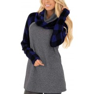 Auxo Damen Pullover Hoodies Langarm Kapuzenpullover Oversized Sweatshirt Sweatjacke Jumper Bekleidung