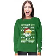 Donald Trump - Make Christmas Great Again - Ugly Christmas Women Sweatshirt Bekleidung
