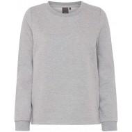 ICHI Damen Glam SW Sweatshirt Grau Grey Melange 10020 40 Herstellergröße L Bekleidung