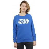 Star Wars Damen Christmas Logo Sweatshirt Large Königsblau Bekleidung