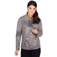 Trigema Damen Gemütliches Sweatshirt mit Stehkragen Bekleidung