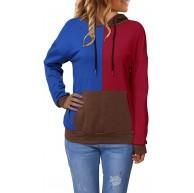 YOINS Hoodie Damen Sweaterkleid Kapuzenpullover Herbst Oversize Langarm Oberteil Einfarbig Top Kleider Sport Sweatshirt Bekleidung