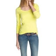edc by ESPRIT Damen Langarmshirt 123CC1K005 Rundhals Bekleidung
