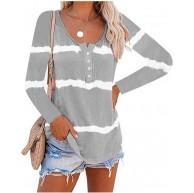MINTLIMIT Damen Langarmshirt Oversize Gestreift Sweatshirt Oberteil Tops T-Shirt Casual Lose Bekleidung