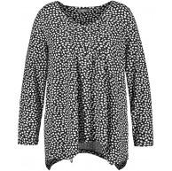 Samoon Damen Ausgestelltes Shirt Mit Zipfelsaum Leicht Ausgestellt Bekleidung