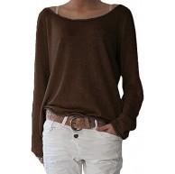 ZANZEA Damen Langarm Lose Bluse Hemd Shirt Oversize Sweatshirt Oberteil Tops Bekleidung