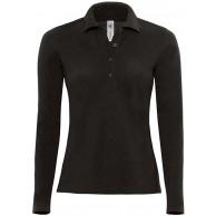 Langarm-Poloshirt 'Safran Pure' FarbeBlack;GrößeS S Black Bekleidung