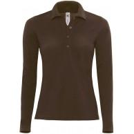 Langarm-Poloshirt 'Safran Pure' FarbeBrown;GrößeXL XL Brown Bekleidung