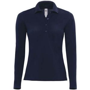 Langarm-Poloshirt 'Safran Pure' FarbeNavy;GrößeL L Navy Bekleidung
