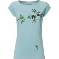 FellHerz Damen T-Shirt Faultier Hellblau Bio und Fair Bekleidung