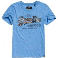 Superdry Damen Vintage Logo Carnival Sequin E T-Shirt Bekleidung