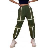 Vectry Damen Jogginghose Sporthose Reflektierender Streifen Laufhose Freizeithose Yogahose Trainingshose Loose Fit Elastischer Bund Sweatpants Bekleidung