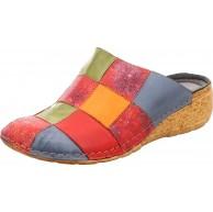 Gemini 032334-01 Damen Pantoletten Clogs Leder Größe40 EU FarbeMehrfarbig Schuhe & Handtaschen