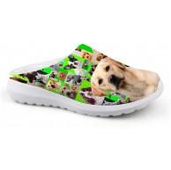 Lolyze Special Damen 3D Slipper Hund Muster Gartenclogs Clogs Pantoletten Sommer Strand Atmungsaktiv Hausschuhe Mit rutschfest Weiche Sohle Soft Latschen Schuhe & Handtaschen