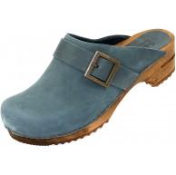 Sanita Urban offener Clog   Original handgemacht   Leder-Holzclogs für Damen Schuhe & Handtaschen