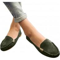 WANGDEE Damen Loafer Frauen Flache Slipper Bequeme Leichte Atmungsaktiv Halbschuhe Casual Schuhe Schnalle Mokassins Ballett Flache Schuhe Schuhe & Handtaschen
