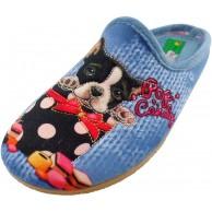 ALBEROLA Hausschuh Pantoffel HELLE Sohle Hund LIEBT SÜSSES - POP Candy - A16703A - EU 36-42 Schuhe & Handtaschen