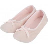 Legou Damen Mädchen MicroTerry Ballerina Hausschuh Frottee Ballerina mit Feuchtigkeitstransport Schuhe & Handtaschen