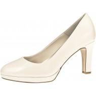 Fiarucci Brautschuhe Renate - Pumps Plateau Ivory Creme Leder - Hochzeitsschuhe High Heels Blockabsatz Schuhe & Handtaschen