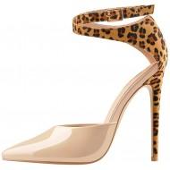 MissHeel Sexy Riemchenpumps Stilettos Leopardenmuster High Heels Schuhe & Handtaschen