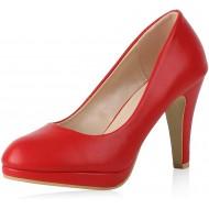 SCARPE VITA Damen Pumps High Heels mit Pfennigabsatz Lack Schuhe & Handtaschen