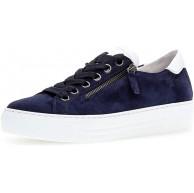 Gabor Damen Sneaker Frauen Low-Top Sneaker Comfort-Mehrweite Reißverschluss Übergrößen Optifit- Wechselfußbett Bluette Weiss 37.5 EU 4.5 UK Schuhe & Handtaschen